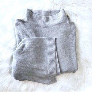 Bp. Mock Neck Pale Blue Wide Sleeve Sweater Sz S